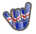 NO WORRIES Hand With Iceland Icelandic Country Flag Motif External Vinyl Car Sticker 105x100mm
